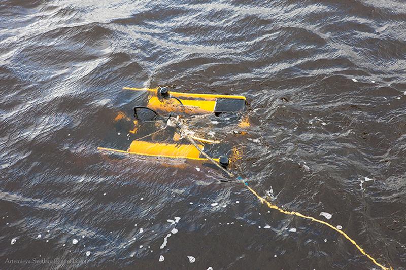 ТНПА«Мираж» в воде после погружения